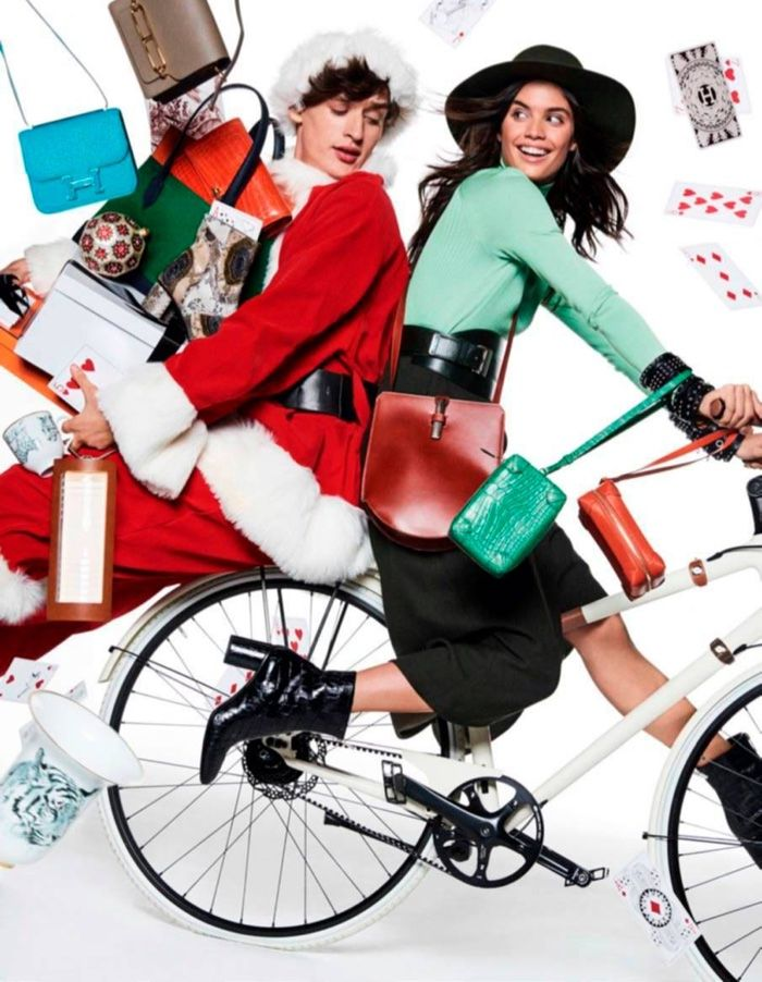 Top models Sara Sampaio and Stella Maxwell are ready for Christmas with the December-January 2016.2017 issue of Vogue Paris. The Victoria's Secret Angels pose with Santa (played by Jegor Venned) in the colorful shoot. Photographed by Giampaolo Sgura, the models serve up looks from the winter and resort collections. From colorful prints to dramatic gowns …
