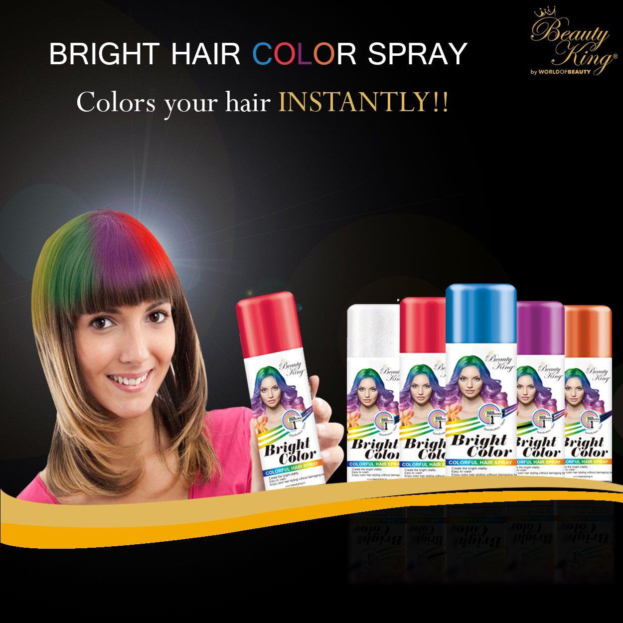 BeautyKingIndia presents new Hair color spray, now Spray