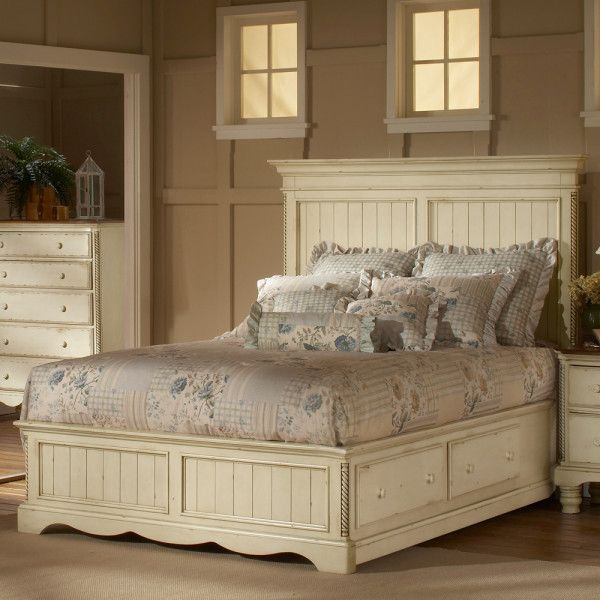 Brilliant French Antique White Bedroom Furniture Using Queen Bed