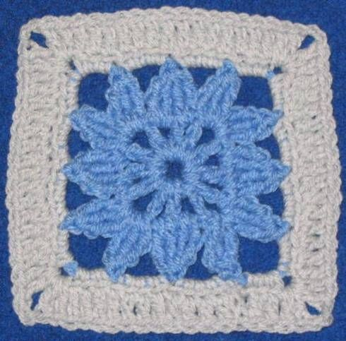Free Crochet Patterns: Six Inch Granny/Afghan Square Motifs: Afghan ...