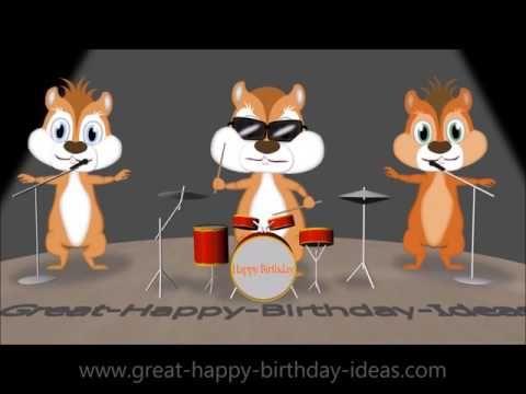 Chipmunks Happy Birthday Song Youtube Feliz