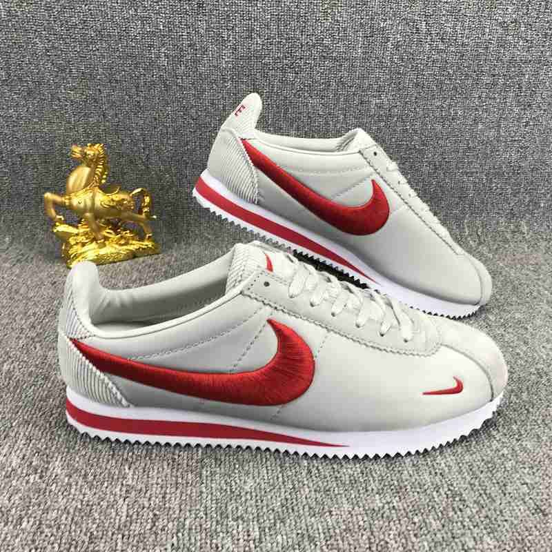 separation shoes a8fa5 3a9c0 Nike Classic Cortez Nylon Embroidery White Red Cheap Nike Trainers, Nike  Shoes Cheap, Nike