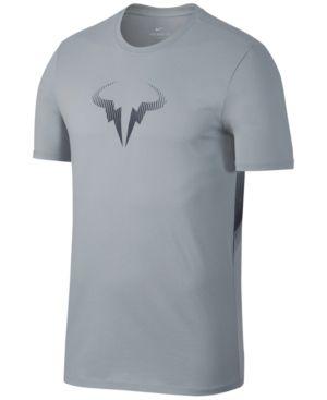 Nike Men S Rafael Nadal Logo T Shirt In Wolf Grey Modesens Mens Tshirts Nike Men Tshirt Logo