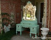 CUSTOM VANITY Order An Antique Dresser Shabby Chic Painted Distressed Restored Bedroom Bathroom Furniture Nationwide Shipping