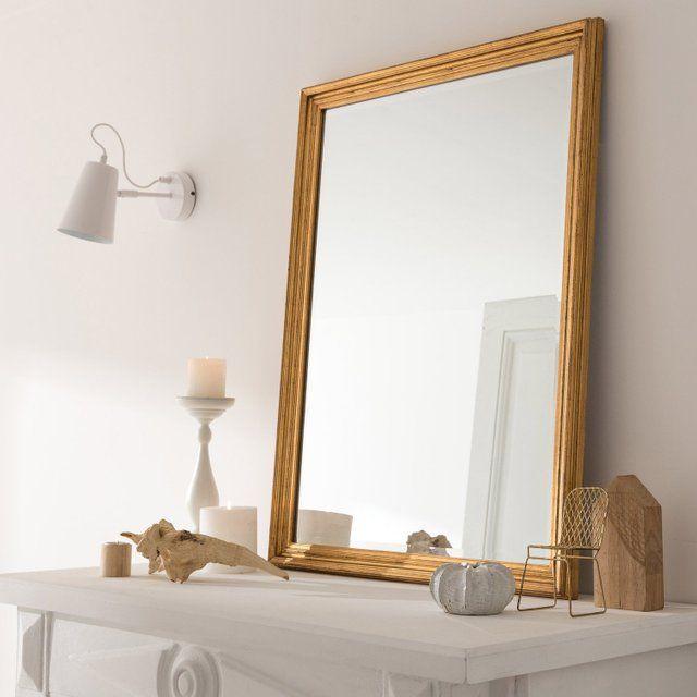 Miroir Rectangulaire Manon Dore L 60 X H 80 Cm Leroy Merlin Miroir Rectangulaire Miroir Miroir Mural Rectangulaire