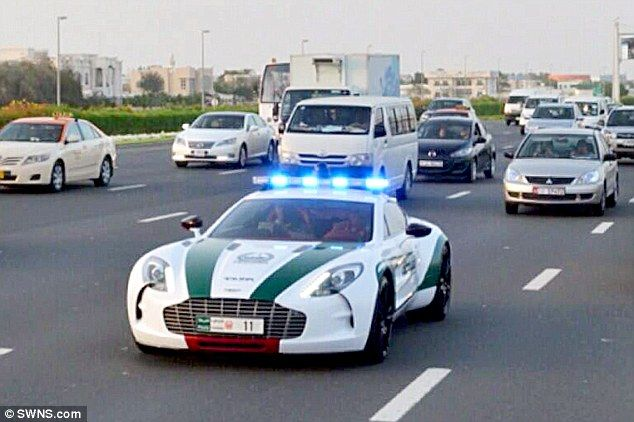 Aston Martin One 77 Dubai Police Car Very Expensive Car For Law Enforcement Police Cars Police Emergency Vehicles