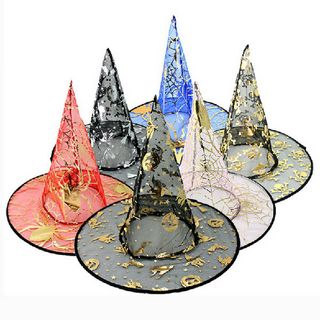 Halloween Masquerade Transparent Single Wizard Witch Hat Cosplay Props