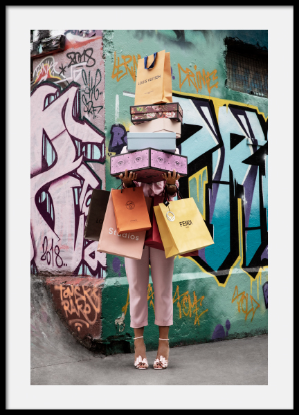 Shopping Spree Poster In 2020 Prints Online Wall Art Modern Art Prints
