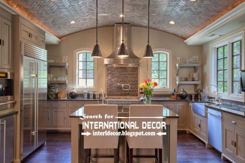 Modern Kitchen Ceiling Designs Ideas Tiles Lights, Drop Ceiling Tiles For  Kitchen