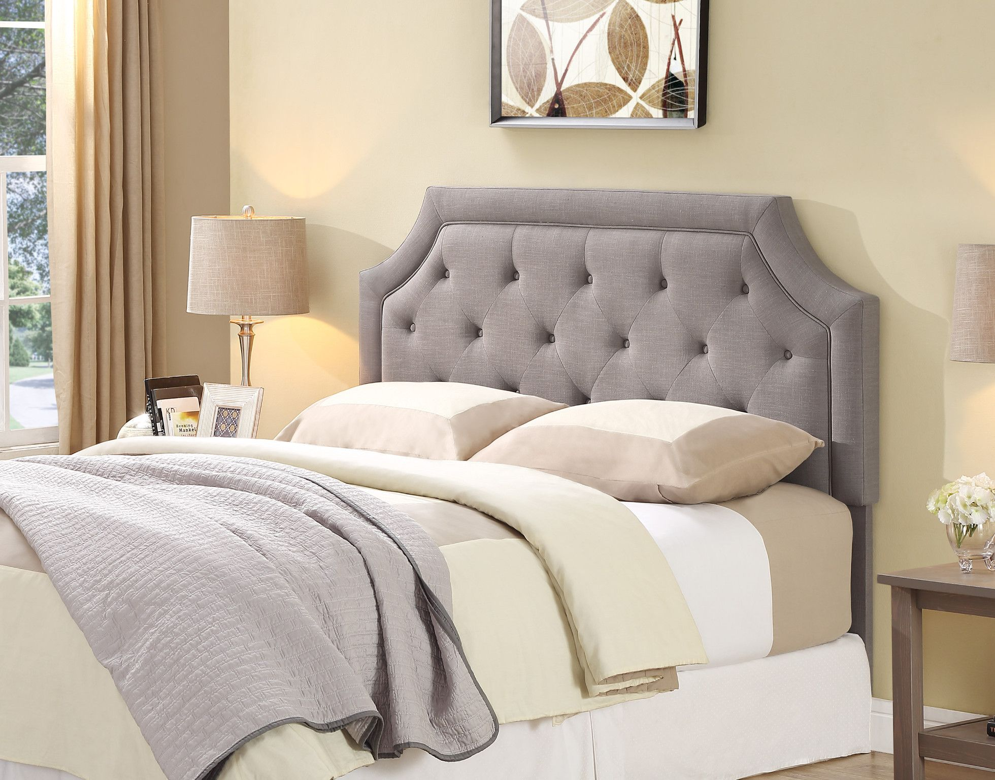 Blakely Full/Queen Grey Upholstered Head Board $149.00 C/M ...