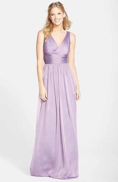 Monique Lhuillier Bridesmaids Sleeveless Ruched Chiffon Dress Nordstrom Exclusive Available At