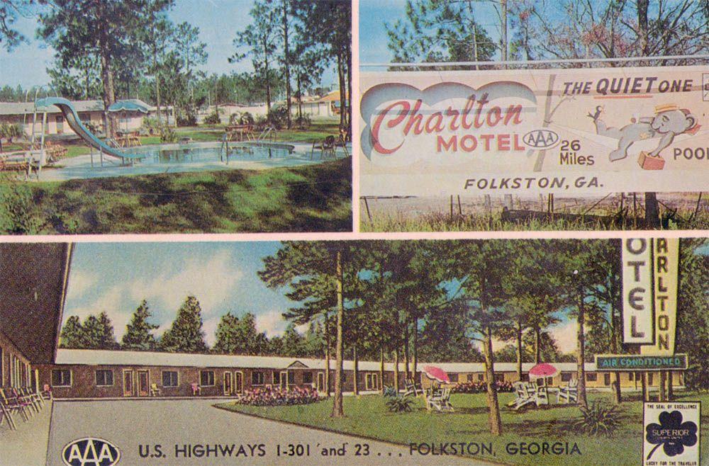 Charlton Motel Folkston Ga Lileks James Postcards