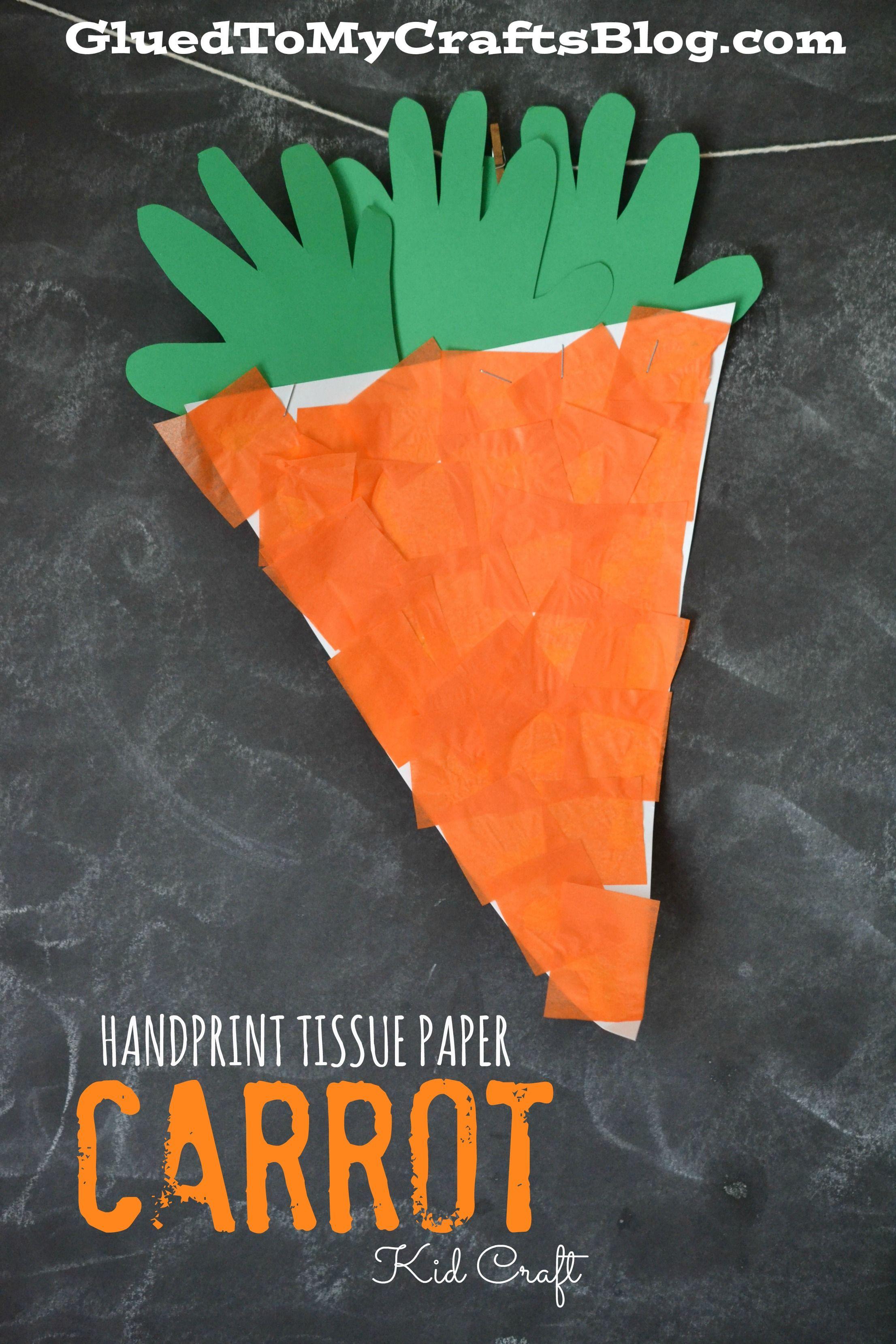 Handprint Tissue Paper Carrot