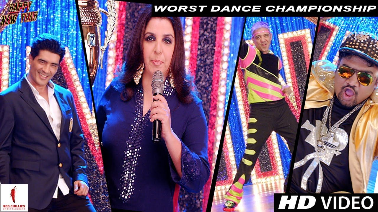 Worst Dance Championship Happy New Year Shah Rukh Khan Deepika Padu Happy New Year 2014 New Year 2014 Farah