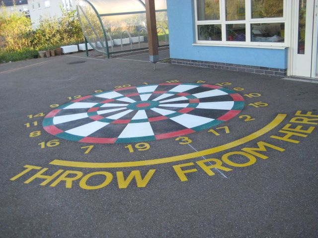 Classroom Design Ideas For Middle School ~ Painted playground games excited this week as their