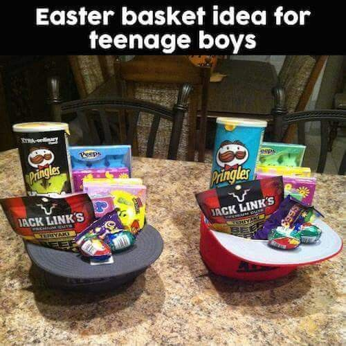 Easter basket for teen boys teen boy gifts pinterest teen boys easter basket for teen boys negle Image collections