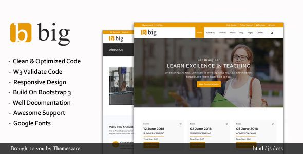 BIG || Multipurpose HTML Template | Medical sites, Template and Startups