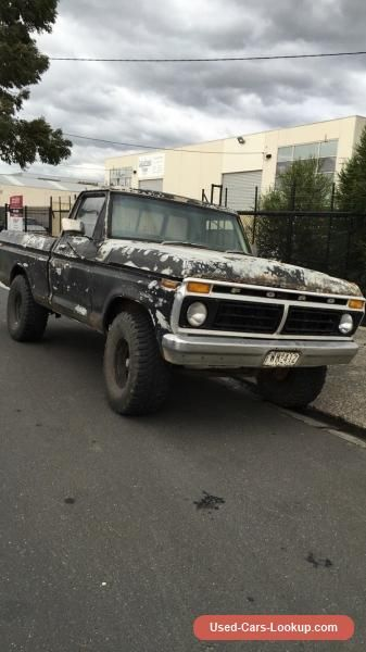 Car For Sale 1974 Ford F100 Swb Suit F150 F250 Buyers