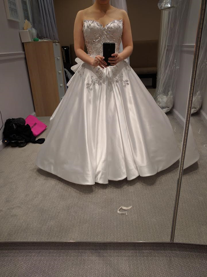 This Kleinfeld Exclusive Silk Satin Ball Gown Features Pnina