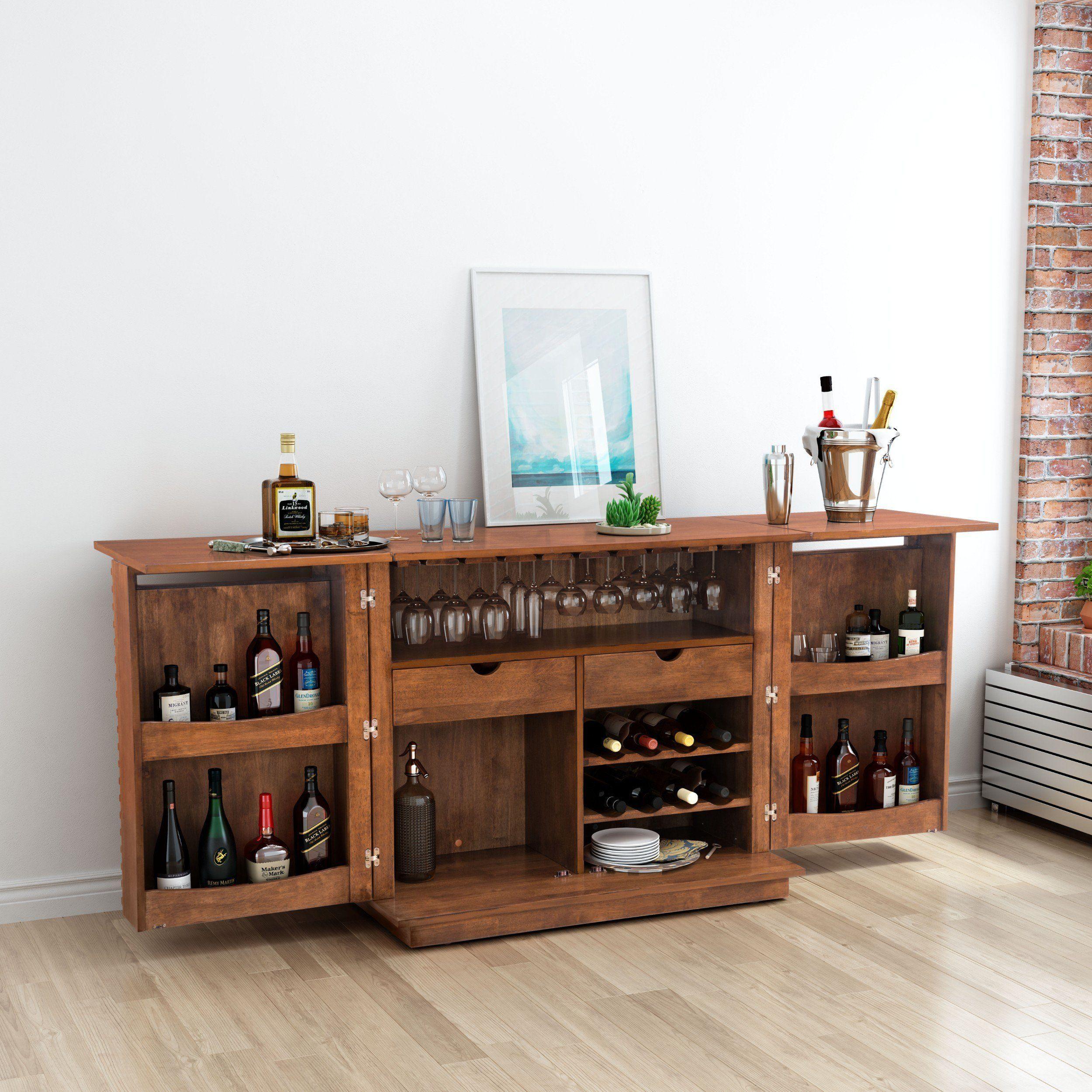 Linea Bar Cabinet Walnut Storage Furniture Home Bar Cabinet Living Room Bar Bar Cabinet