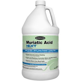 Crown 1-Gallon Muriatic Acid   For the basement   Gold