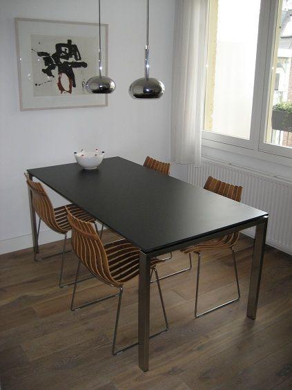 Esprit Salon Tafel.Table Realise Avec Une Planche De Bardage Trespa Esprit