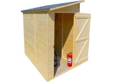 Abri en bois pour 2 velos ou motos 1 30 x 2 23 m abris for Petit cabanon bois
