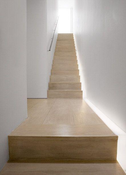 Down Basement Stairs Lighting: John Pawson House, London - Stair Light