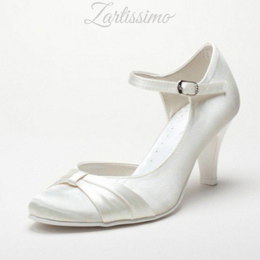 bb088458b2c9d5 Brautschuhe (Z17) in weiß oder ivory creme ♥ Hochzeit ♥ NEU ♥ 36 ...