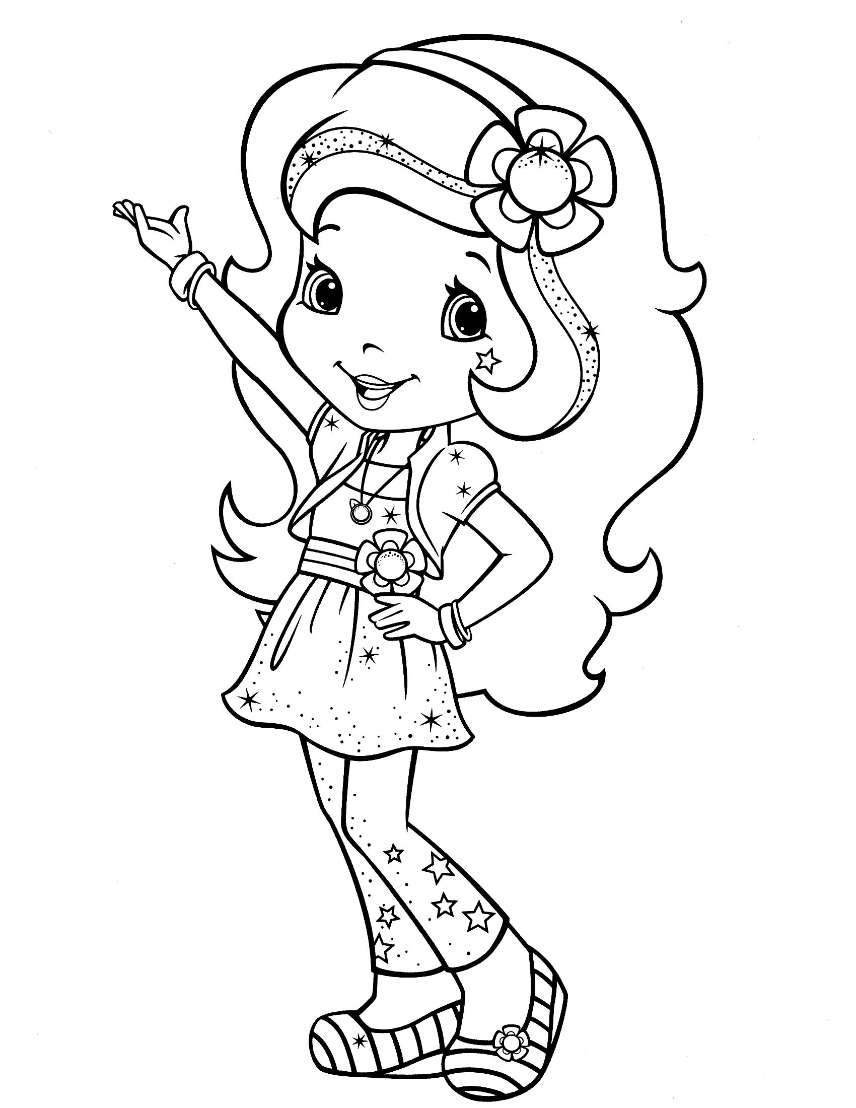 download strawberry shortcake coloring pages - Strawberry Shortcake Coloring Pages