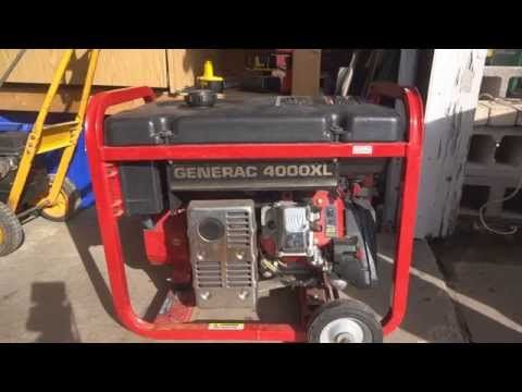 Generac 4000xl Generator Solution To Common Problem Wont Stay
