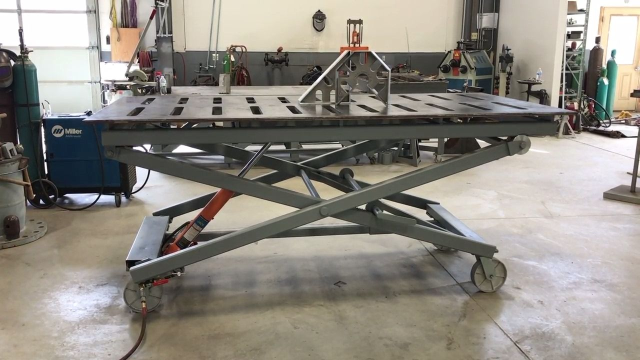 Awesome Welding Table Adjustable Height Fireball Tool In