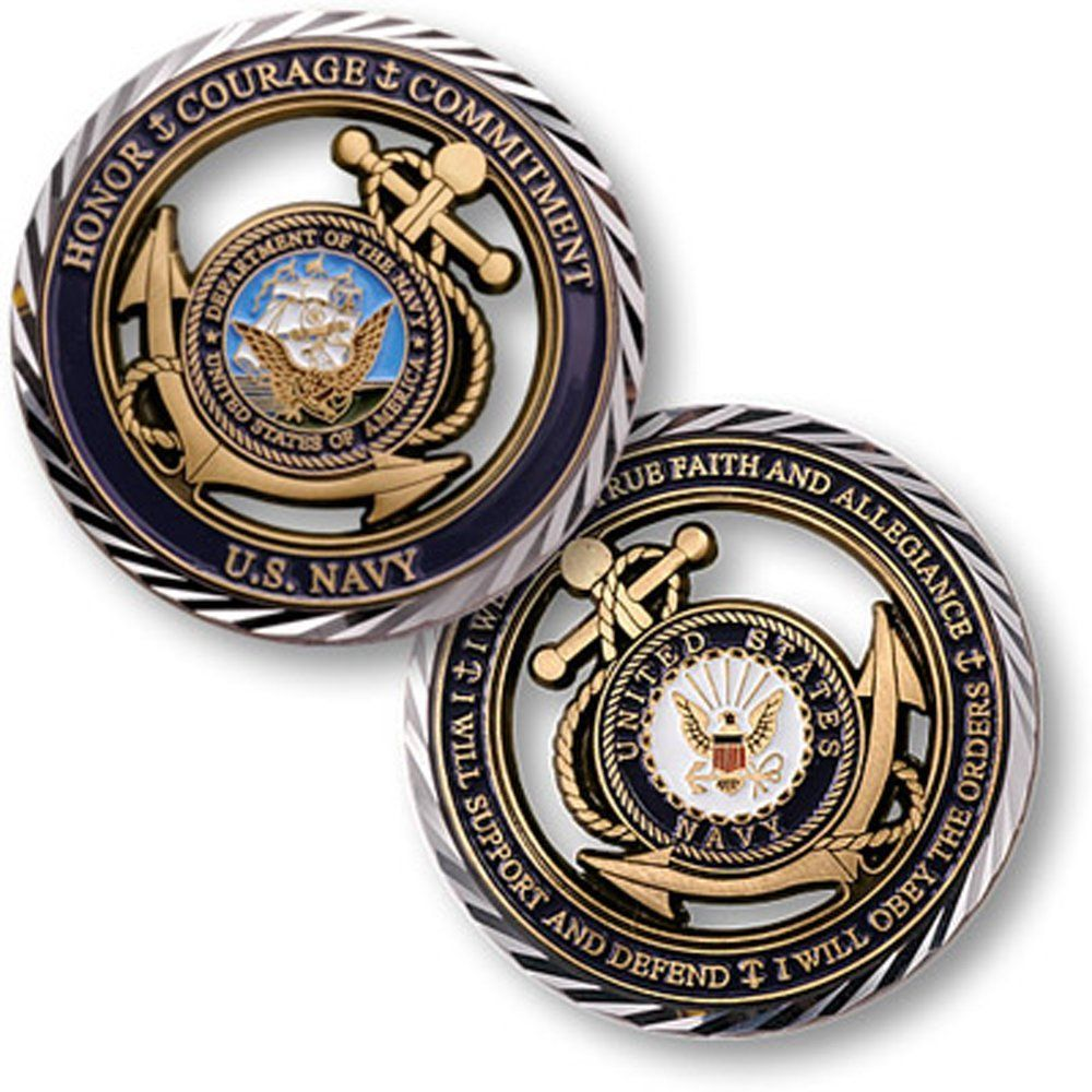 Core Values U.S. Navy Challenge Coin Military Coins