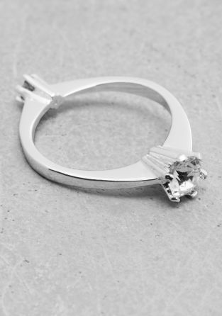And Other Stories | Rhinestone Ring | Silver