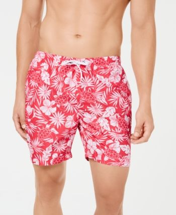 5c0dc19158 Trunks Surf & Swim Co. Men's Sano Sea Turtle Bloom Printed 6.5