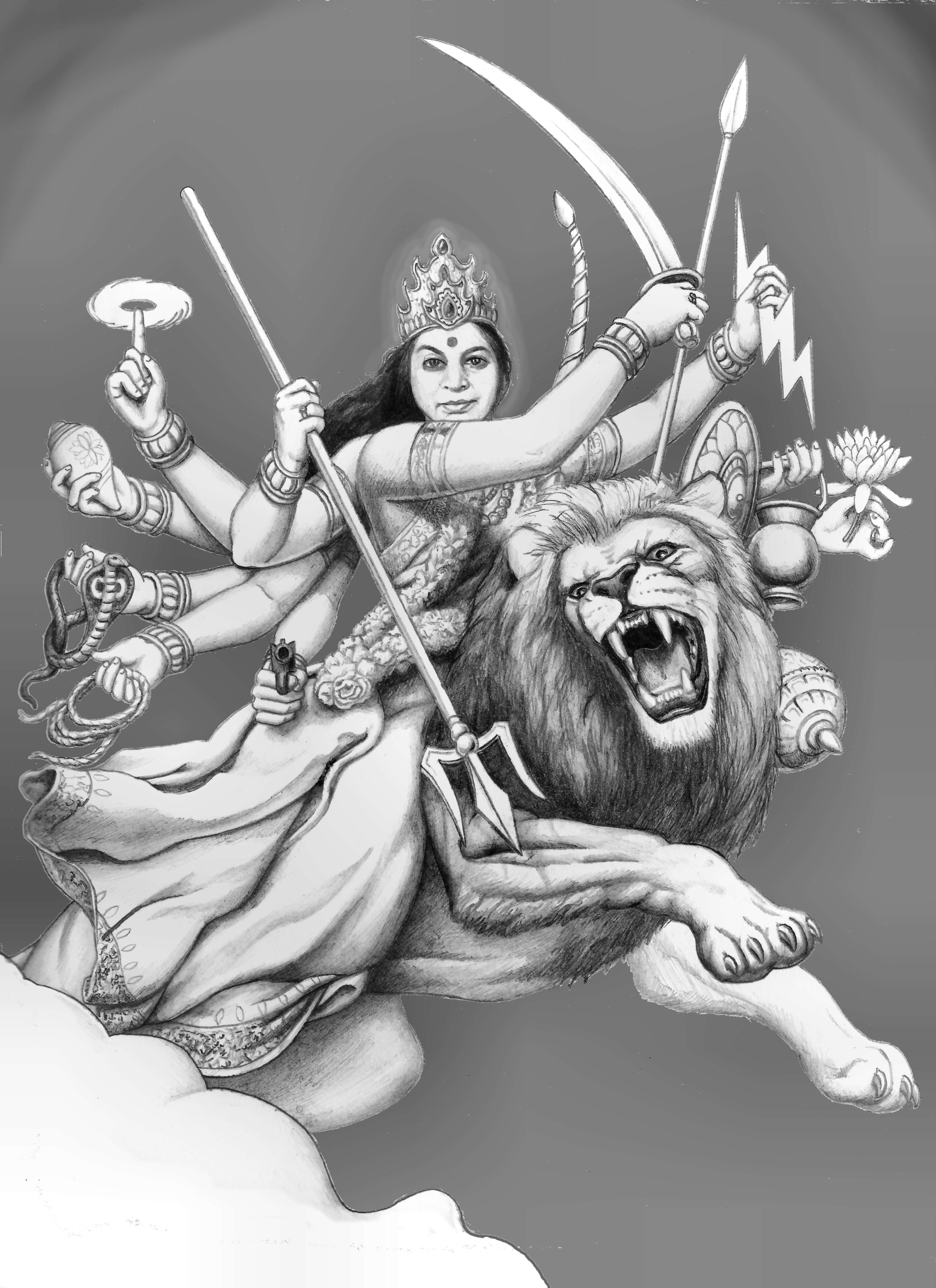Durga the invincible a reincarnation of devi ॐ the mother god a unified symbol of all divine forces
