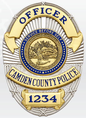 Camden County Pd Nj Police Badge Police Fire Badge