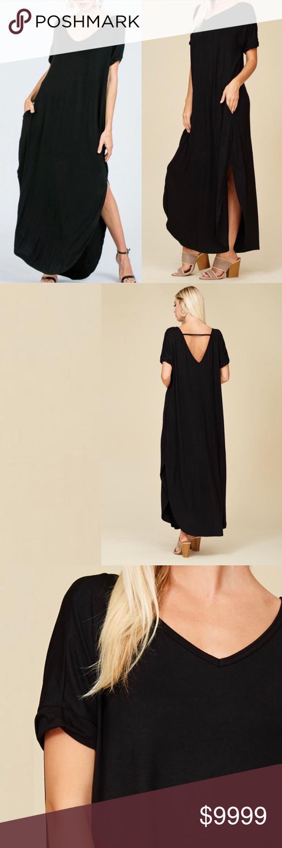 Black Maxi Dress Pockets Oversized T Shirt Dress Black Maxi Dress Comfy Dresses Maxi Dress [ 1740 x 580 Pixel ]