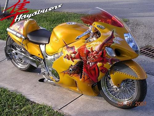 Marvelous Gold Dragon Hayabusa Nice Design