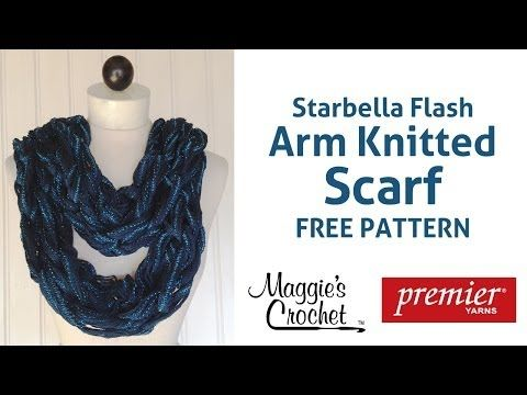 Starbella Flash Arm Knitted Scarf Right Handed Free Pattern