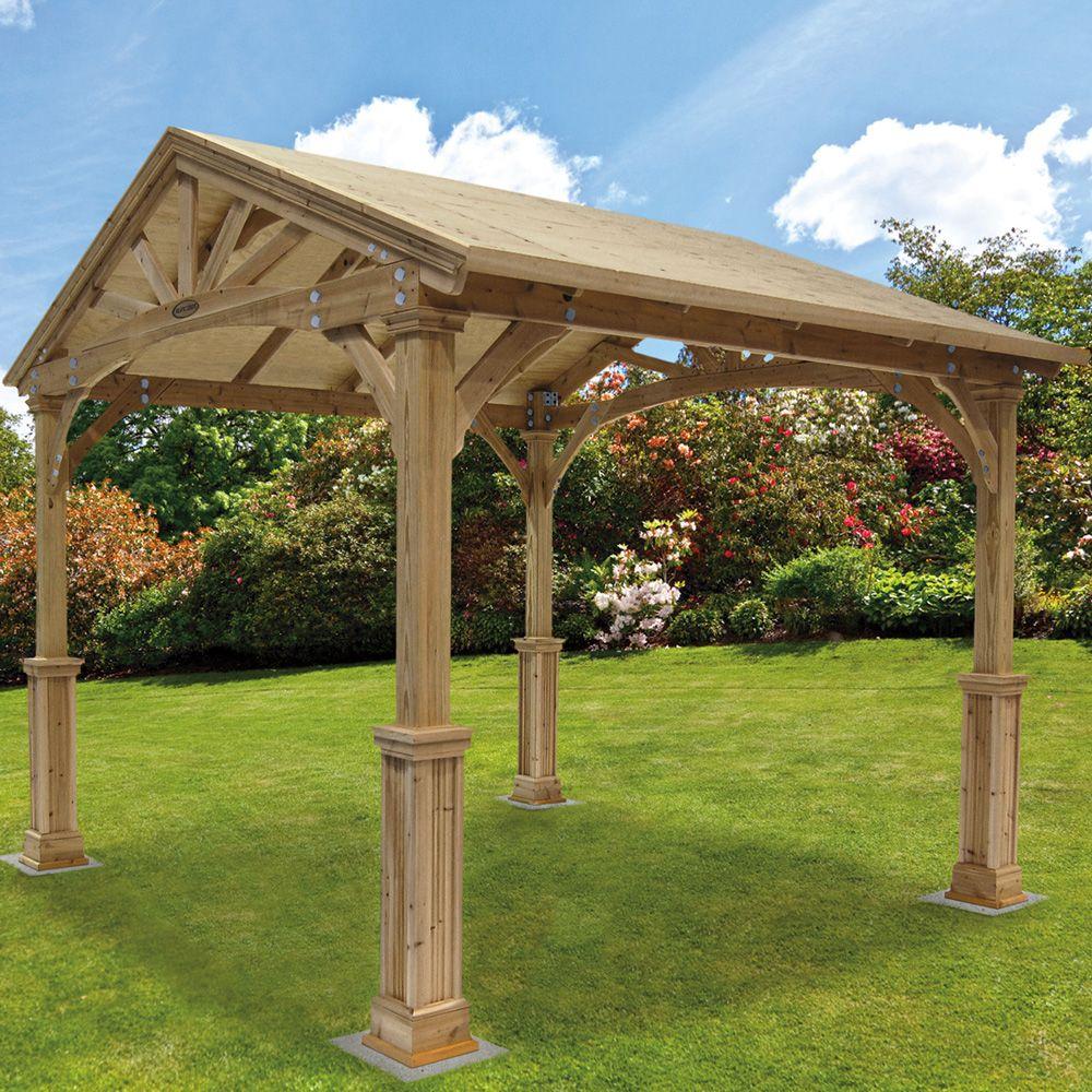 wooden gazebo plans free 4 wooden gazebo kits. Black Bedroom Furniture Sets. Home Design Ideas