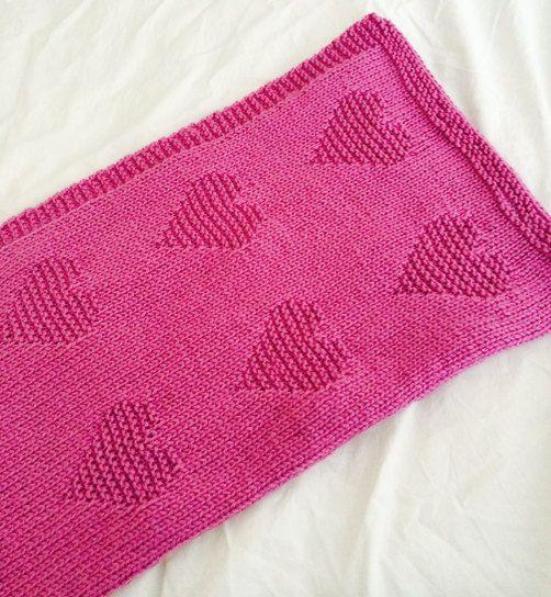Love Heart Blanket Knitting Pattern Pdf Instant Download Knitting