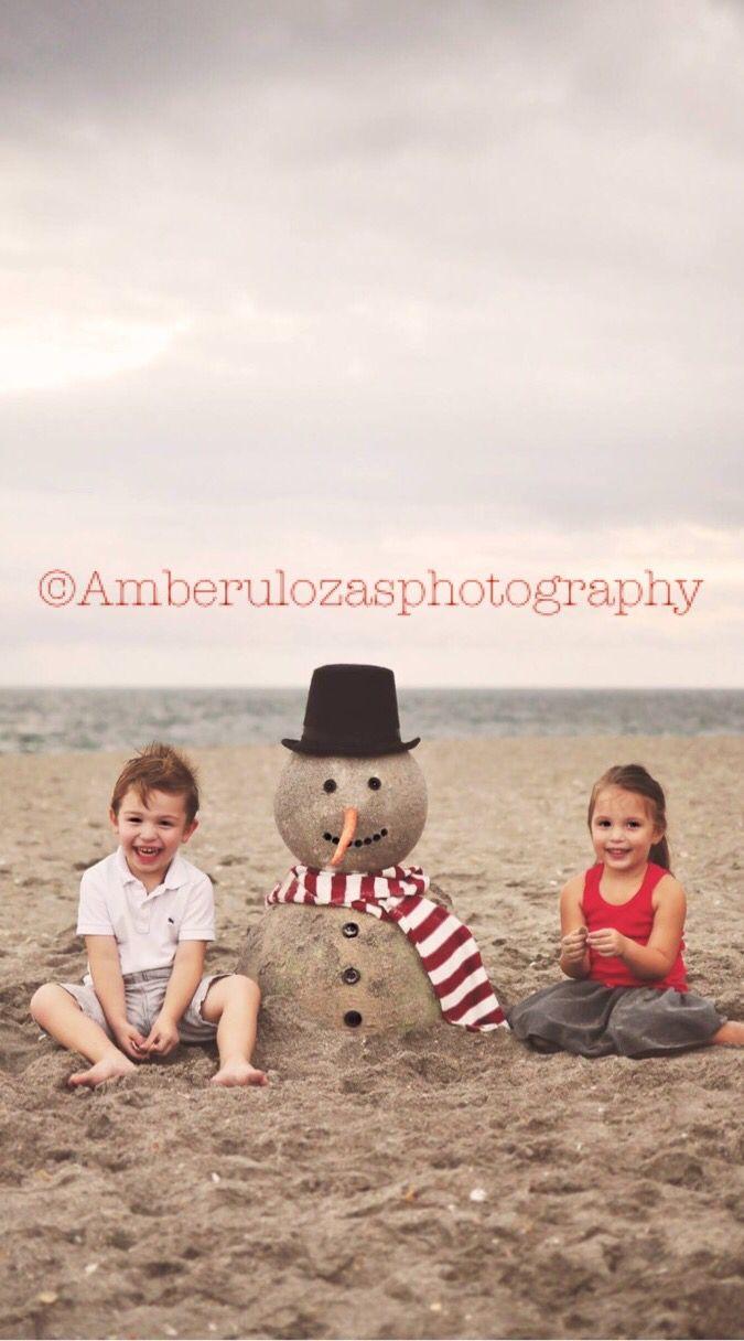 amberulozasphotography 2015 holiday mini Beach sand snowman holiday ...
