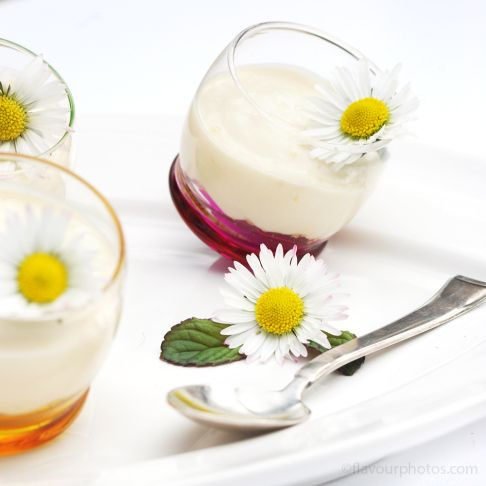 Vegan mini Cheesecake Shots with summery lemon zest and ginger. Six ingredients to dairy-free happiness!