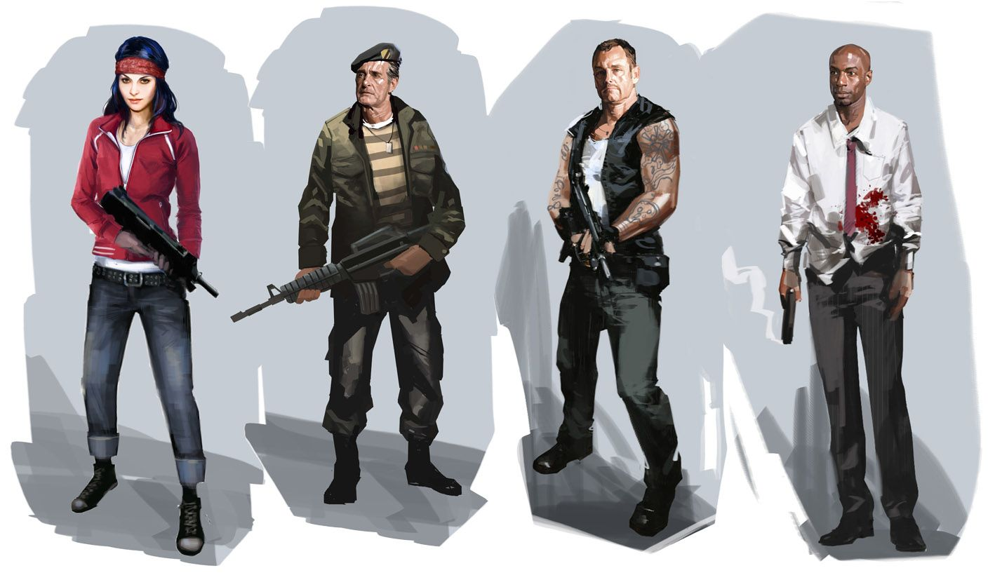 Character Design Brief : Left dead characters family brief character design