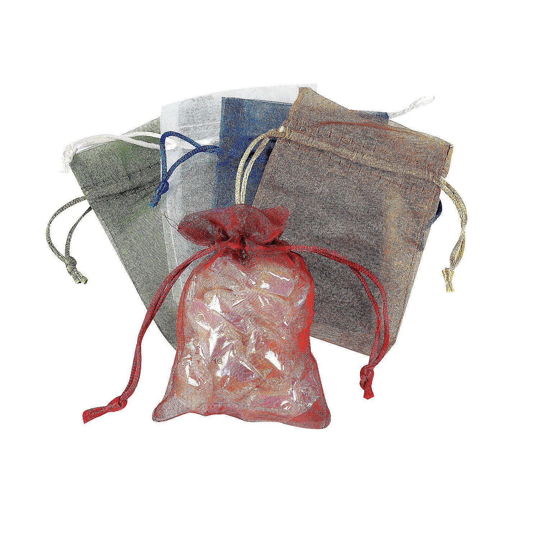 Small Sheer Mesh Drawstring Gift Bags - OrientalTrading.com  sc 1 st  Pinterest & Sheer Drawstring Treat Bags | Marketing ideas | Treat bags Gift ...