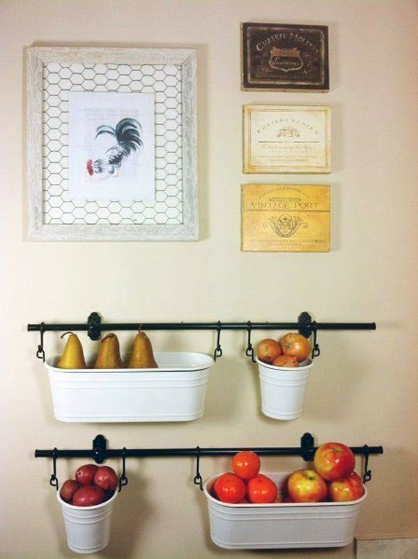 Hanging Fruit Baskets: Use A Rail Based Organizer And Customize It With  Containers And