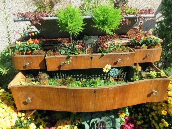 Pflanztisch Alte Kommode Umfunktionieren Garten Mobel Zubehor