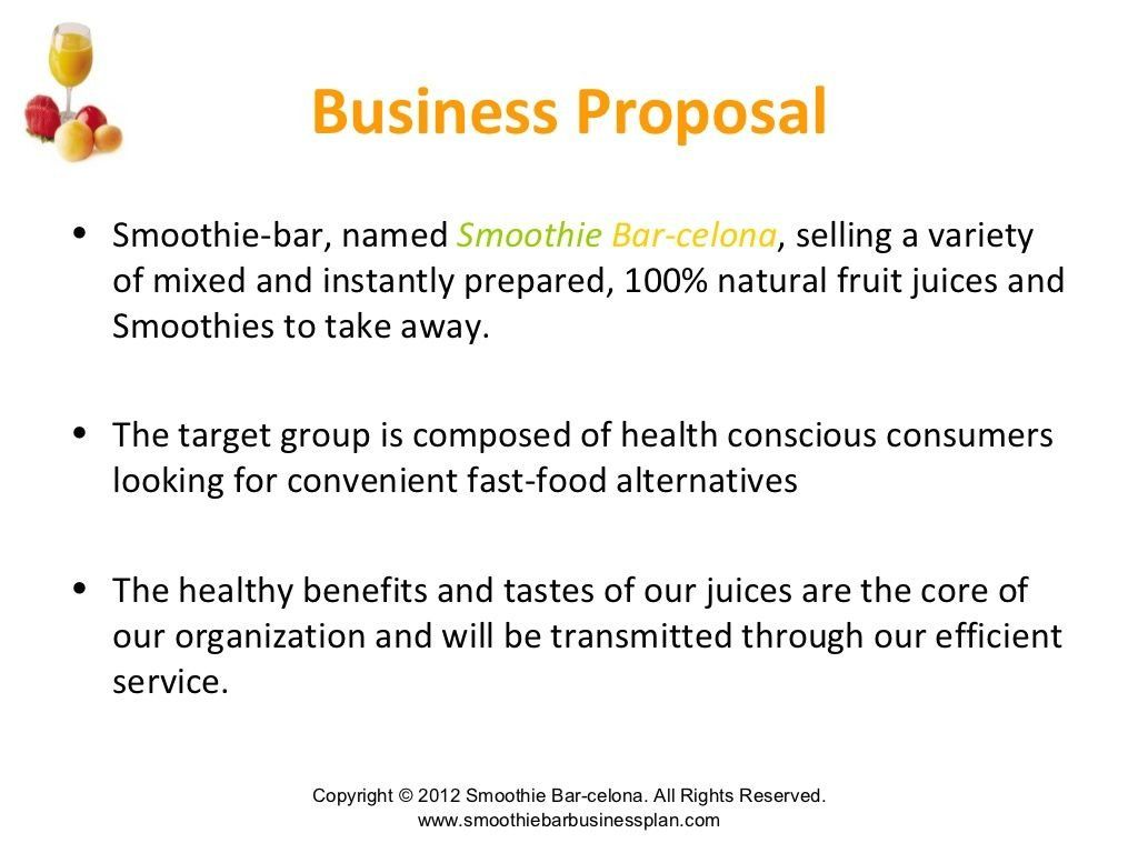 Smoothie and juice bar business plan 1000 in 2020