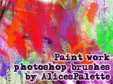 Paint brush work